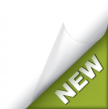 New green page corner
