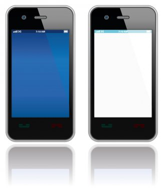 Modern mobile phones set. Vector objects collection. clip art vector