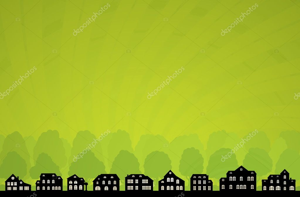 Green City Skyline