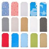 grande set di tag e di etichette a colori