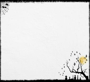 White Halloween Background