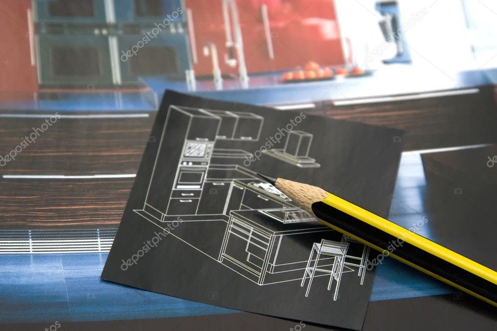 nuevos muebles para cocina — Foto de stock © magicinfoto #4783158