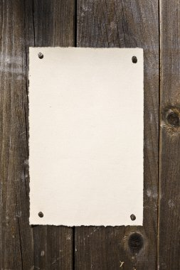 Old-Style Paper On Brown Wood Texture