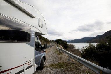 Mobile Home And Lake