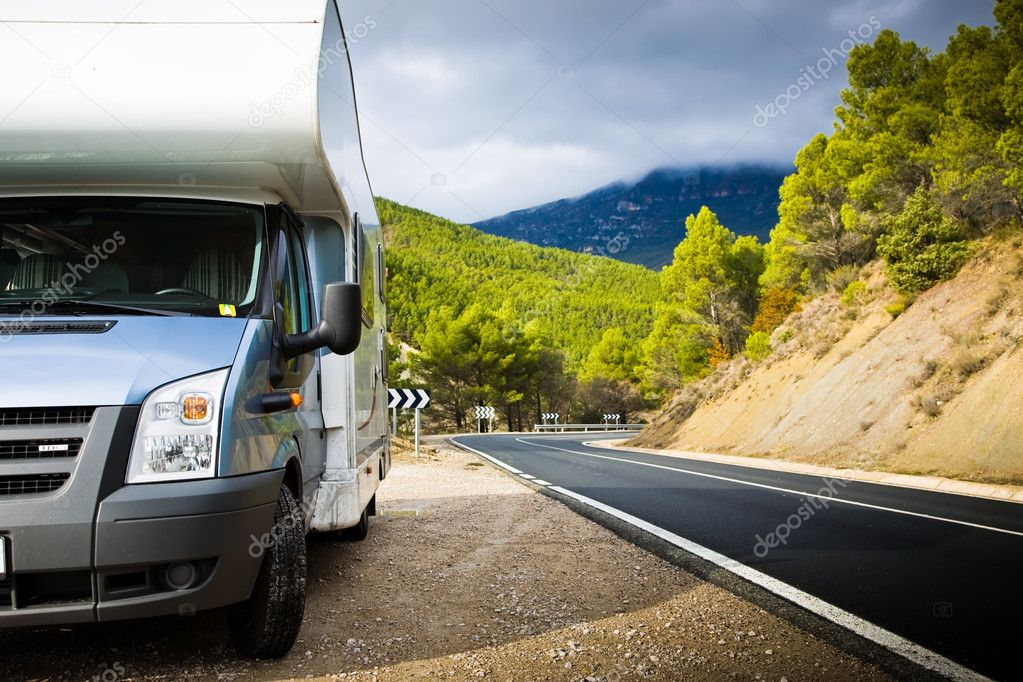 Motor Home Near The Road
