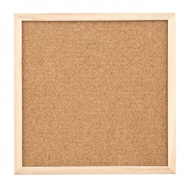 Corkboard isolated on white background