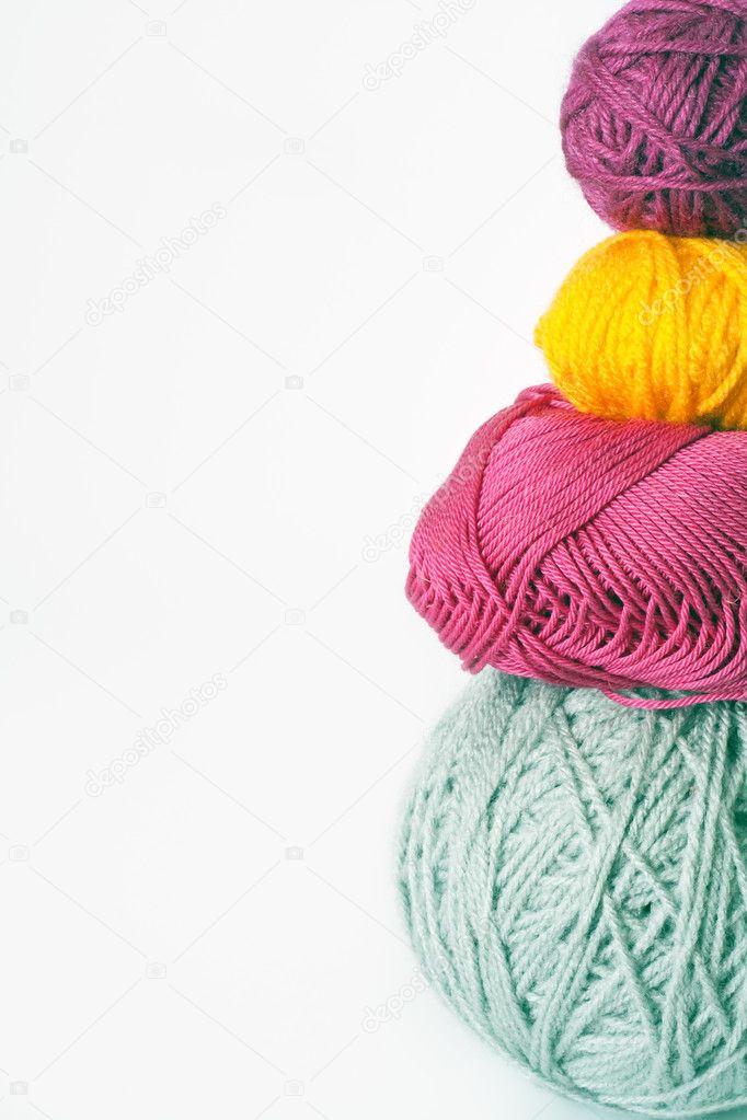 bolas de hilo para tejer — Fotos de Stock © Myroslava #5033185