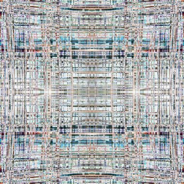 Abstract close up design of a microprocessor in a seamless square tile pattern. Very intricate pattern.