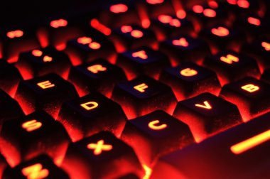 Red Illuminated Keyboard