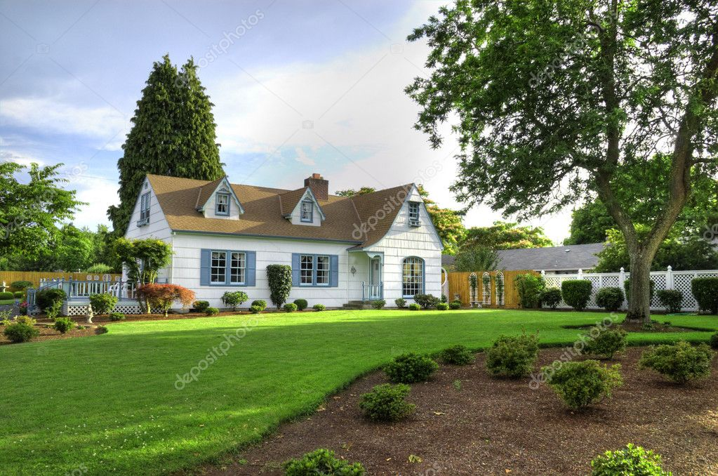 Family Home with Tree