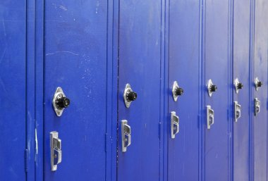 Ascending Blue Lockers