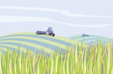 Landscape farm clear