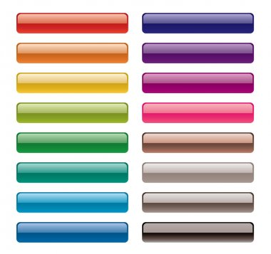 Colorful long buttons