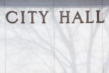 City Hall background sign