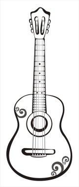 Classic guitar sketch
