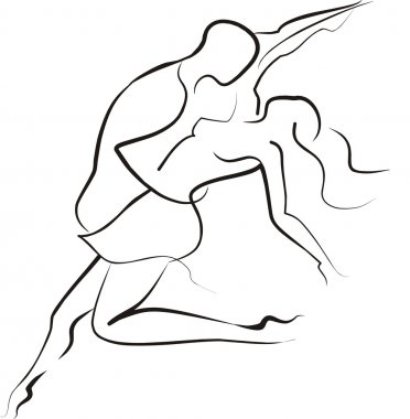 Couple dancing symbol