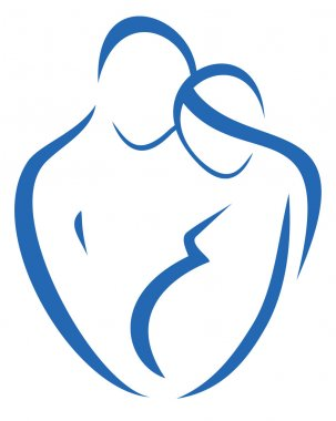 Family and pregnancy symbol