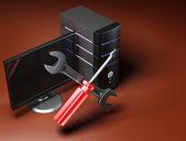 Fotografie computer-reparatur