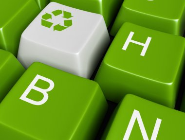 Recycle on green button