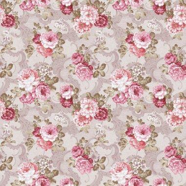 Seamless rose background pattern