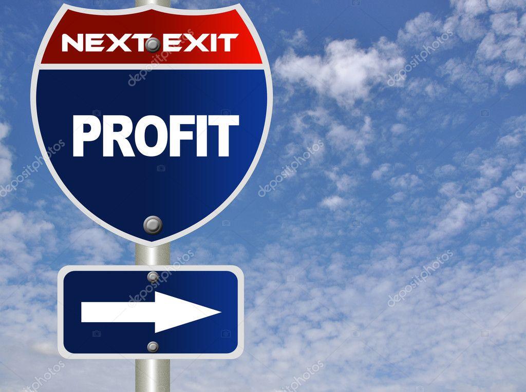 Profit road sign