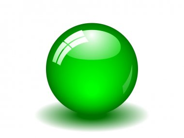 Glossy Green Ball