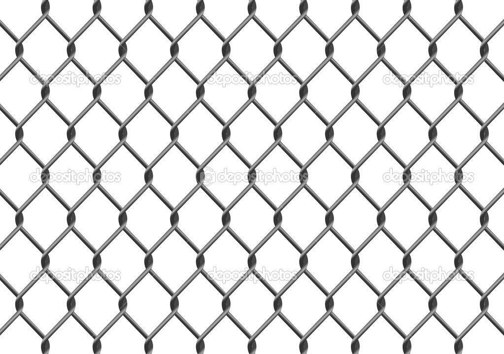 chain link fence — stock vector © chrishall #4642479