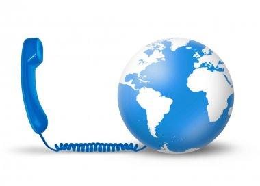 Telecommunications concept - blue
