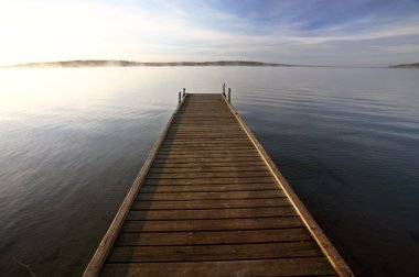 Boat dock on a Saskatchewan lake