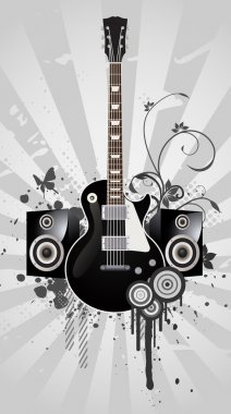 Abstract Electric Guitar