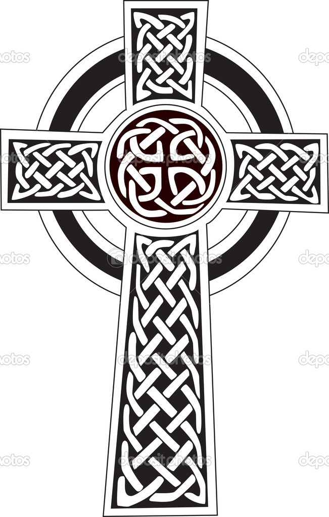 celtic cross symbol tattoo or artwork stock vector morphart rh depositphotos com irish celtic cross vector free celtic cross vector designs