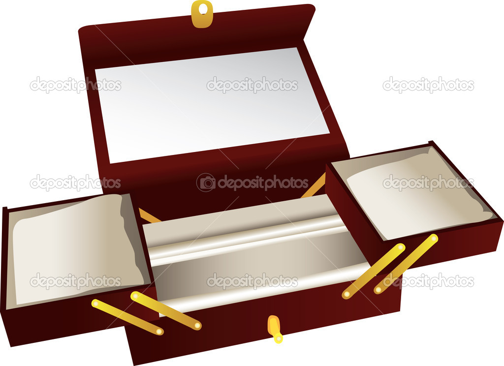 Wooden jewelry box — Stock Vector © Morphart #4643072