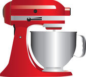 Photo Red stand mixer