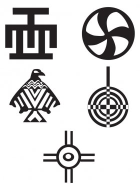 American and african symbols - Indians