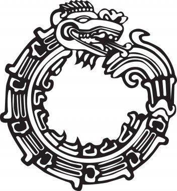 Aztec Maya Dragon - Great for tatto art