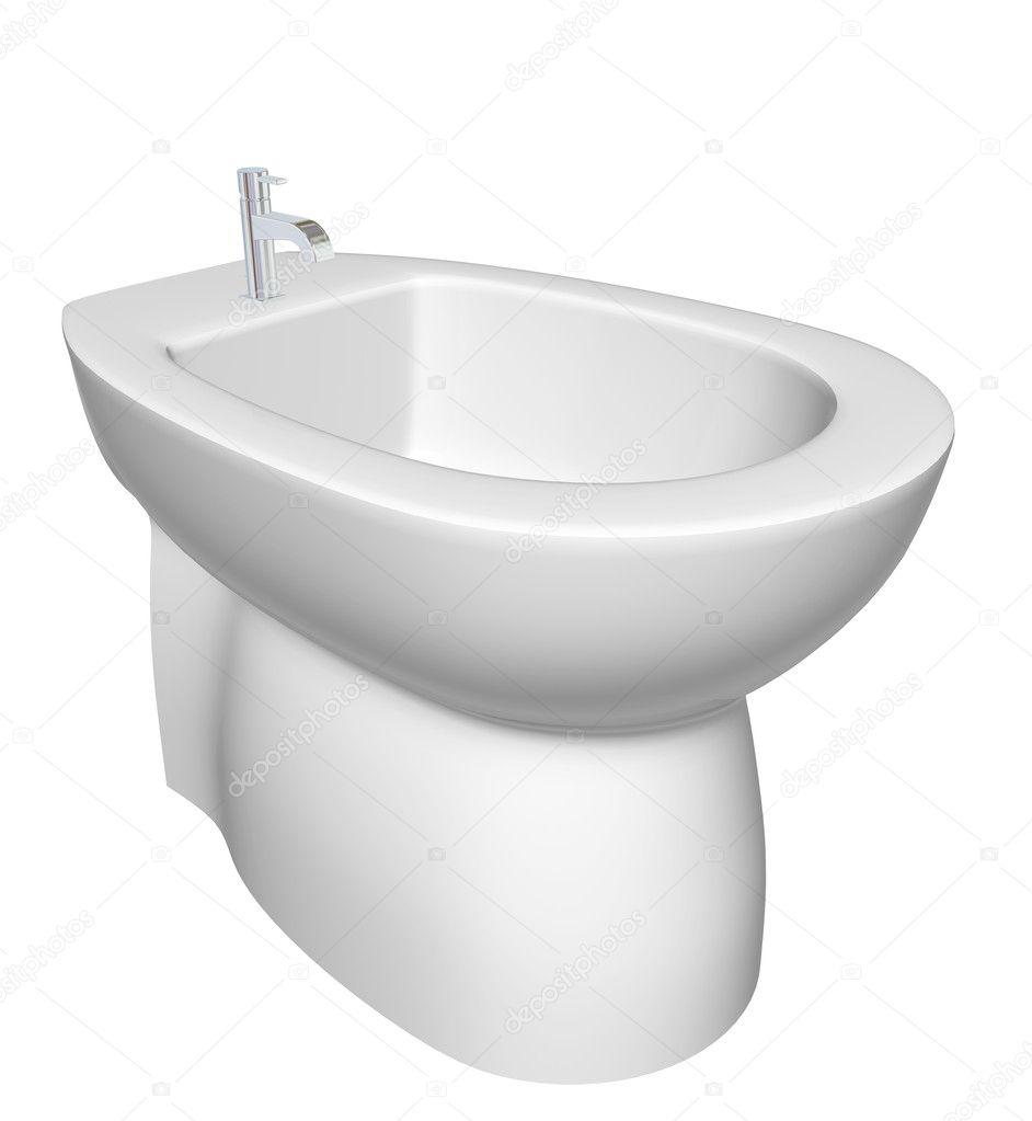 Cały Projekt Bidet Do łazienki Ilustracja Zdjęcie