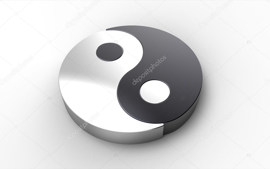 Computer Rendering Of A Yin Yang Symbol Stock Photo Gobliins