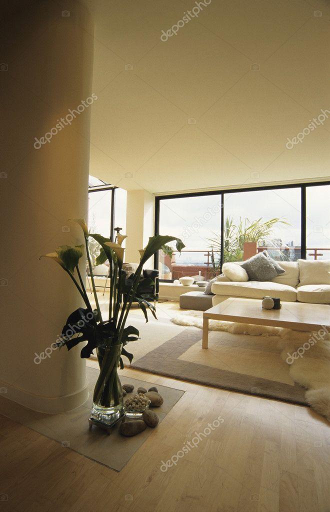 Appartamento attico di Londra, dettaglio del soggiorno — Foto Stock ...