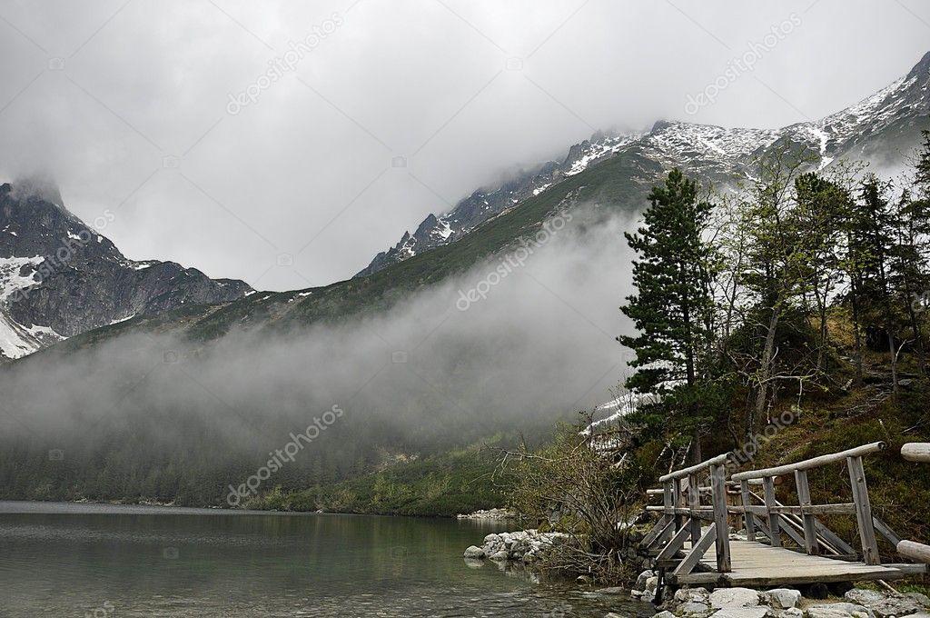 Mountain landscape pond