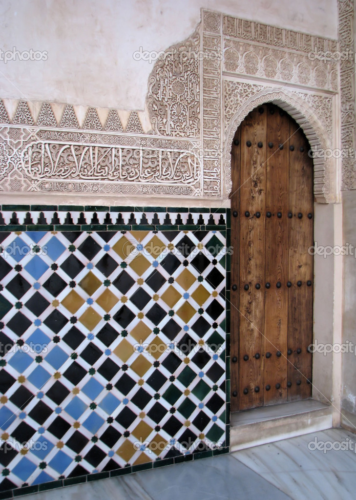 islamic art and architecture in alhambra – stock editorial photo