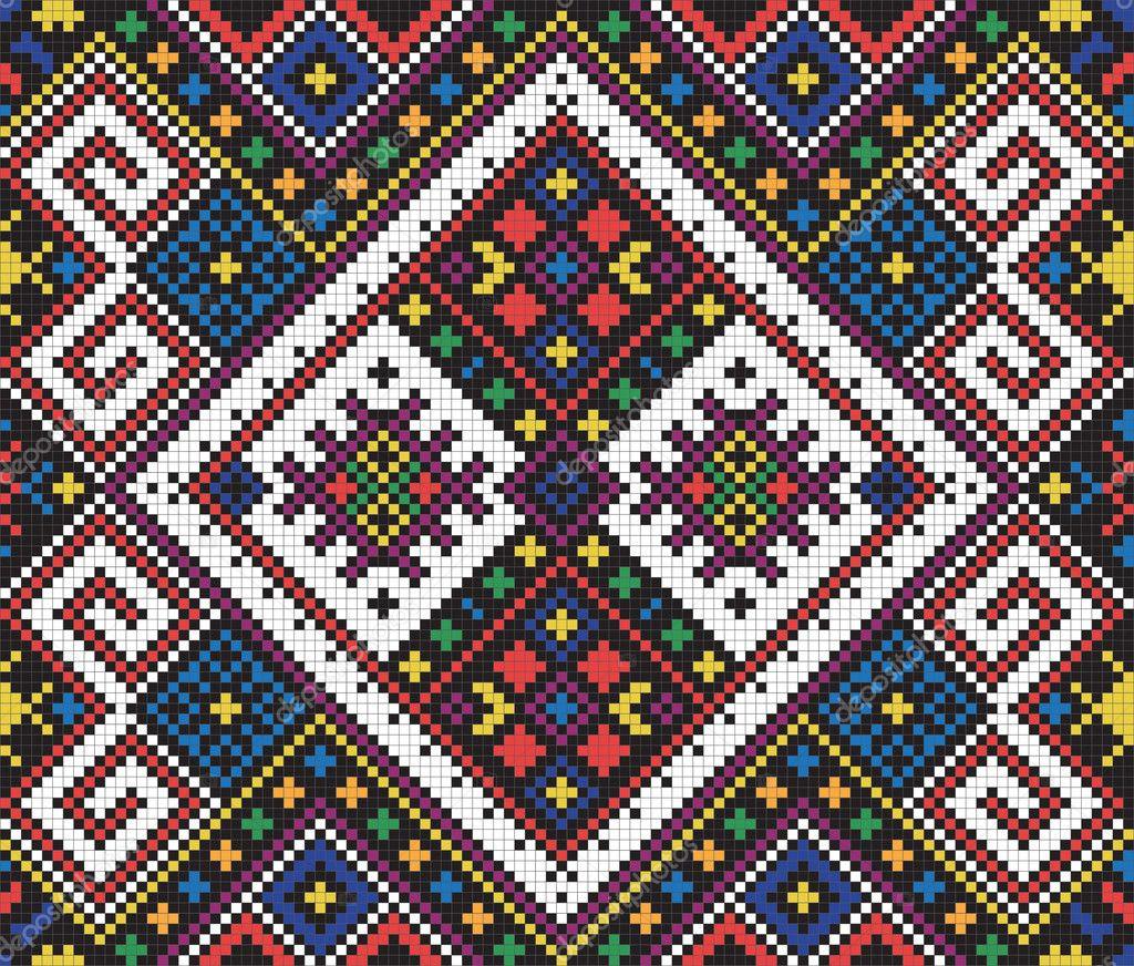 Этнический орнамент для вышивки