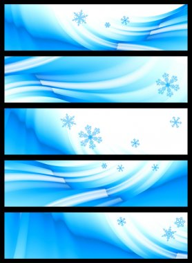 Winter banner, vector