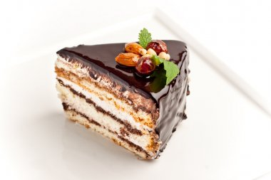 Piece of cake with nuts