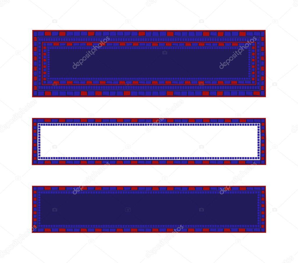 Marcos de mosaico — Vector de stock © dayzeren #4752285