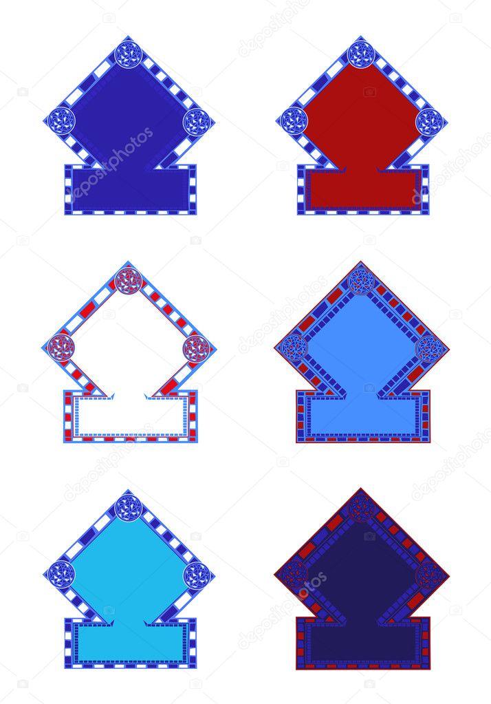 Marcos de mosaico — Vector de stock © dayzeren #4752305