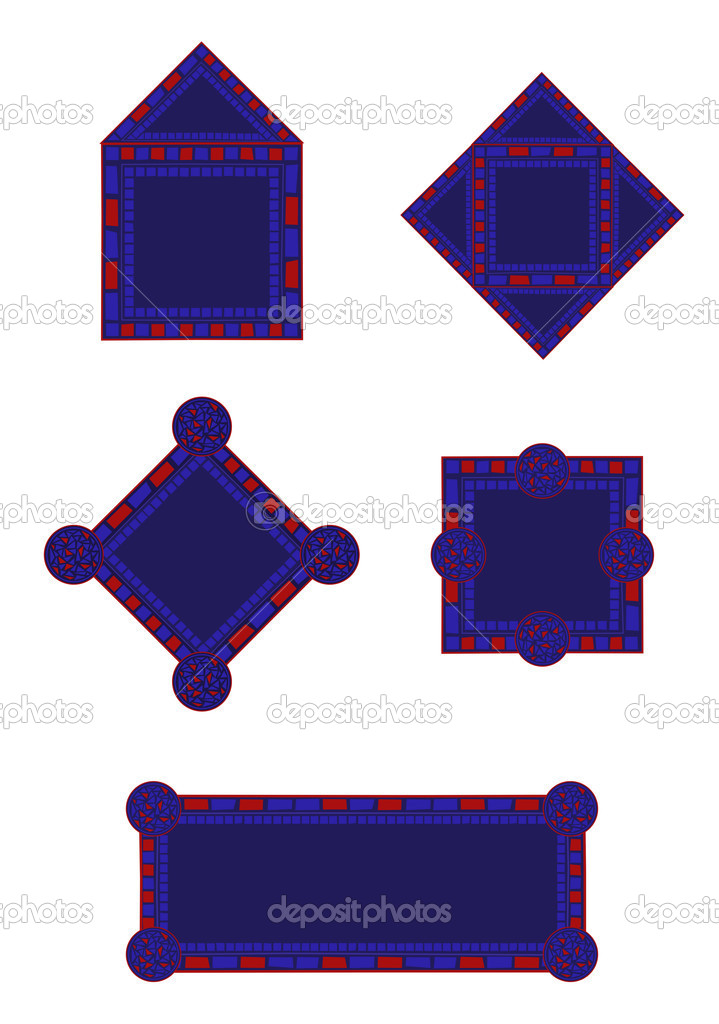 Marcos de mosaico — Vector de stock © dayzeren #4752330