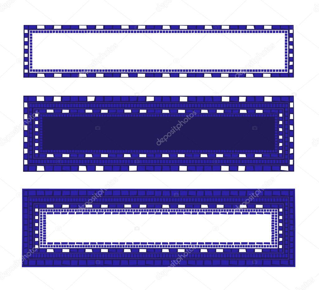Marcos de mosaico — Archivo Imágenes Vectoriales © dayzeren #4752340