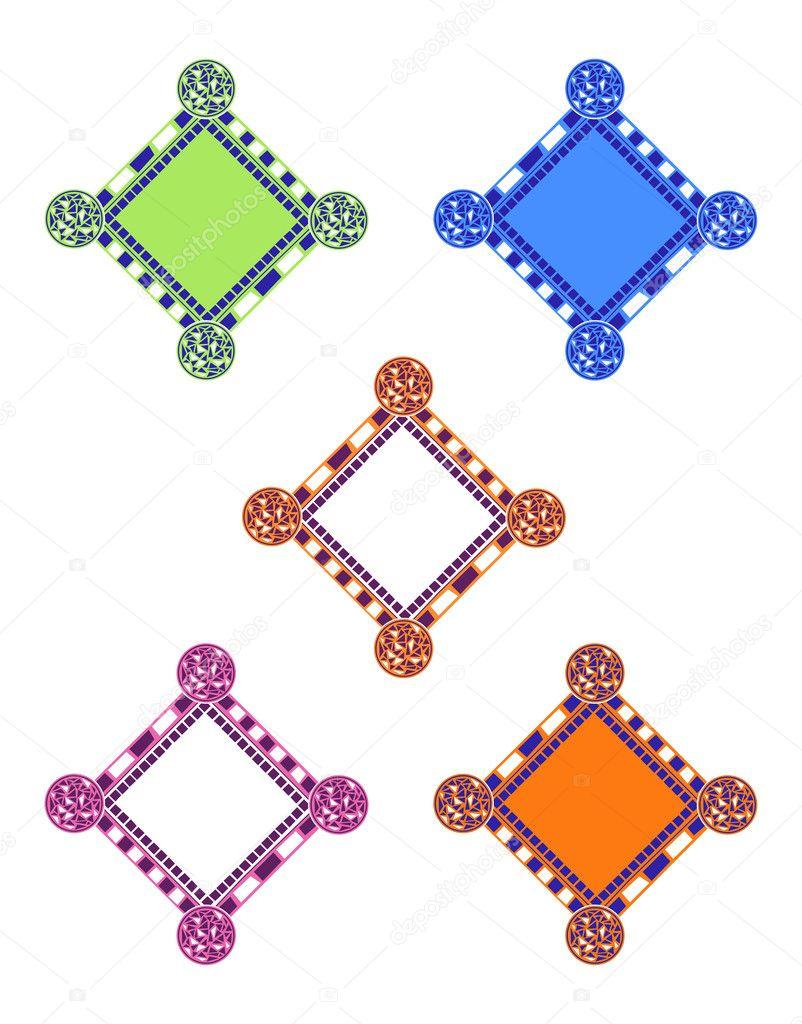 Marcos de mosaico — Vector de stock © dayzeren #4752352