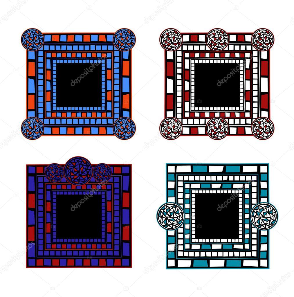 Marcos de mosaico — Vector de stock © dayzeren #4752355