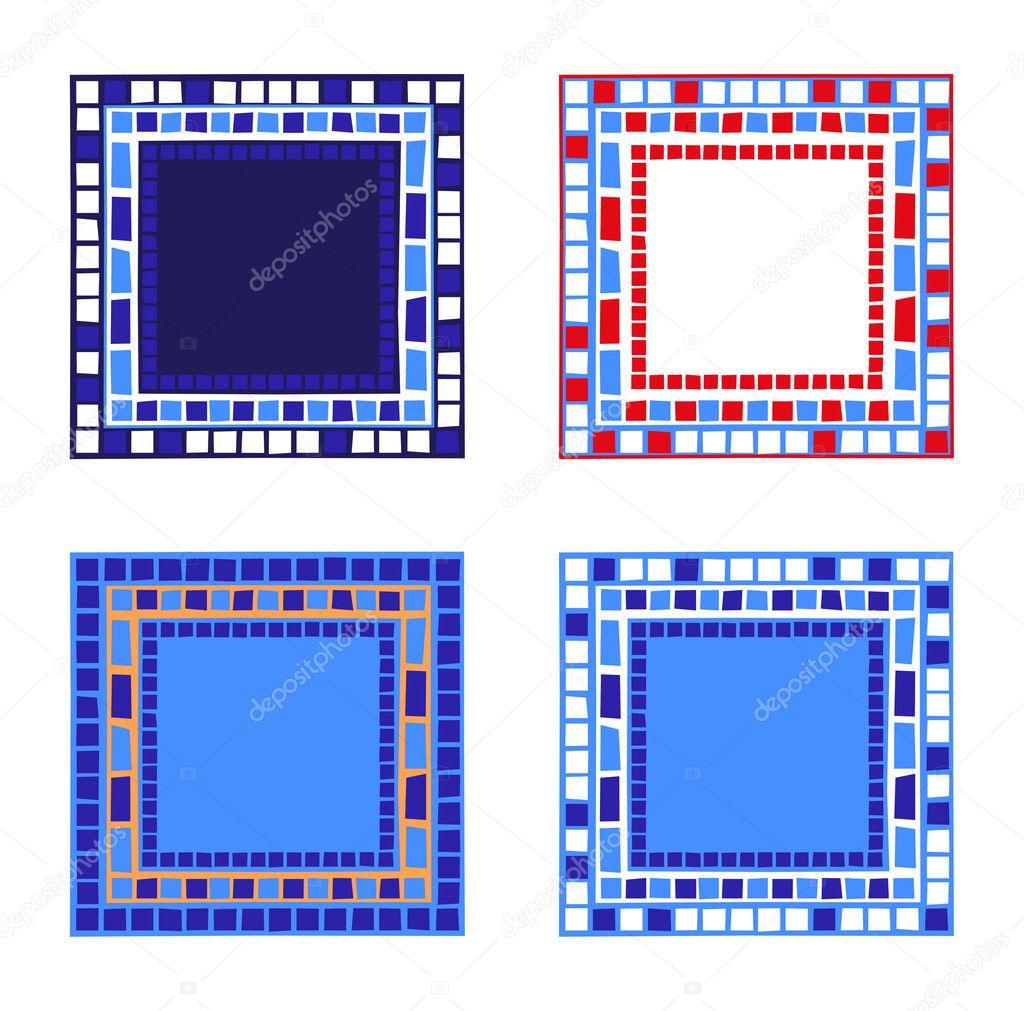 Marcos de mosaico — Archivo Imágenes Vectoriales © dayzeren #4752361